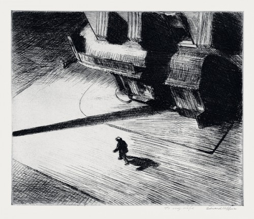 Edward Hopper - Night Shadows - Etching