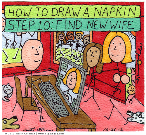 How to Draw a Napkin – Step 10: Find New Wife