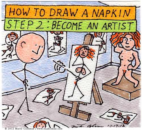 how to draw a napkin 2-6