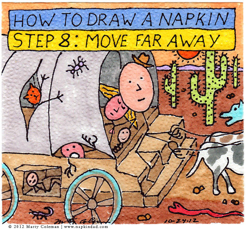how to draw a napkin 8-6
