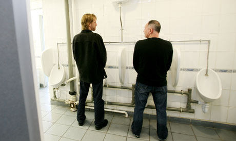 Men at urinal