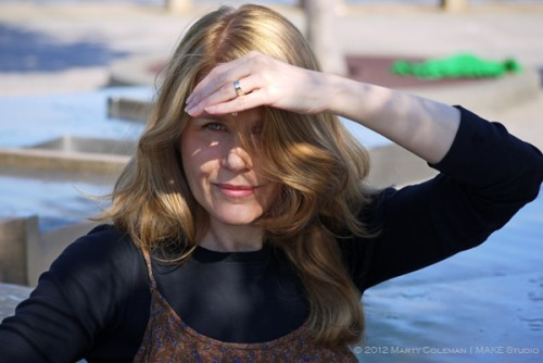 Julia in the sun