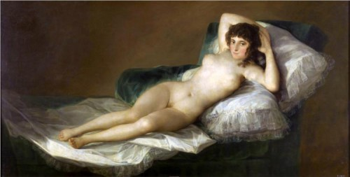 Francisco Goya - The nude Maja - oil on canvas - 1800