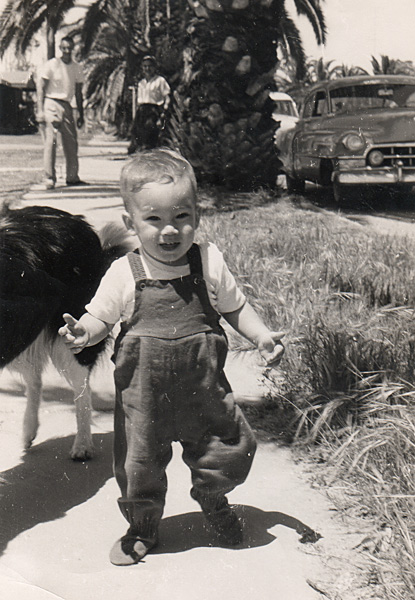 me, one year old, 1956