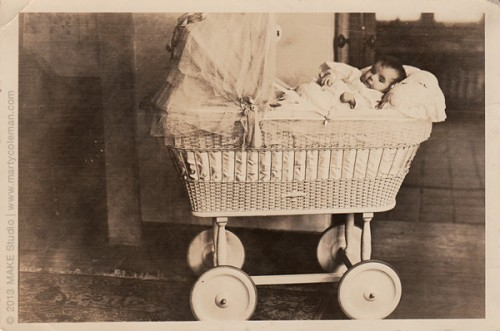 Lee in her carriage, 1926
