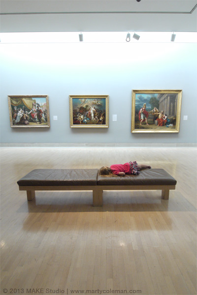Museum Muse Sleeping