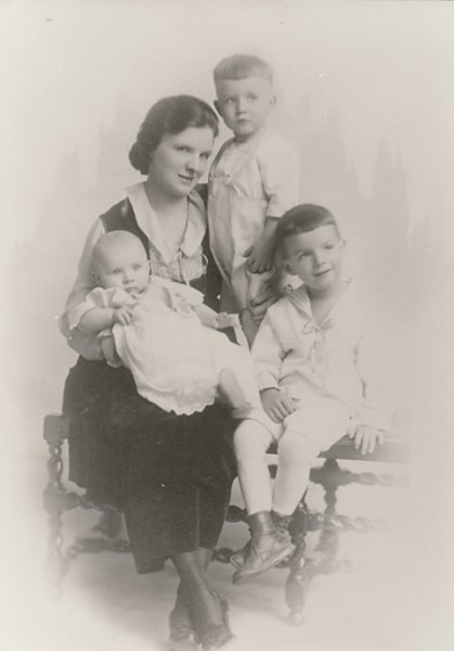 grandmother peggy with kids