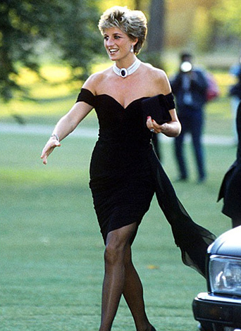 Princess diana in a little black dress