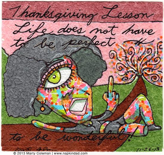 thanksgiving - perfect vs wonderful