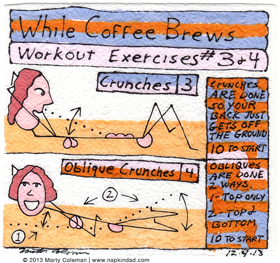 The 'While The Coffee Brews' Workout – Exercises #3 and #4