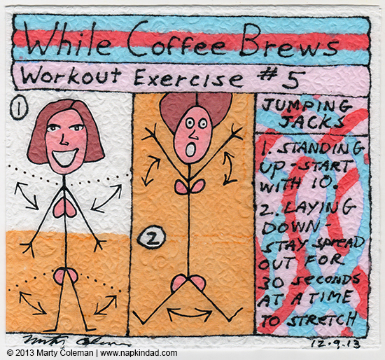 while the coffee brews workout #5