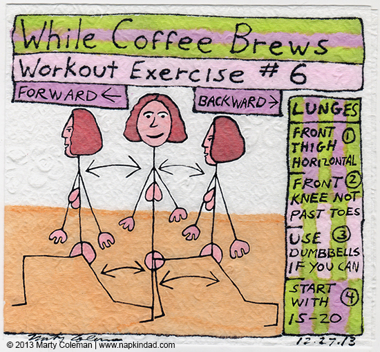 While coffee brews workout exercise #6