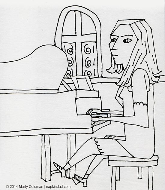 The Church Pianist – Selections from a Sketchbook