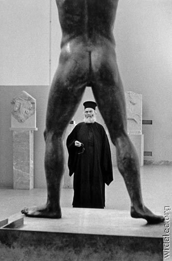 Priest and Sculpture