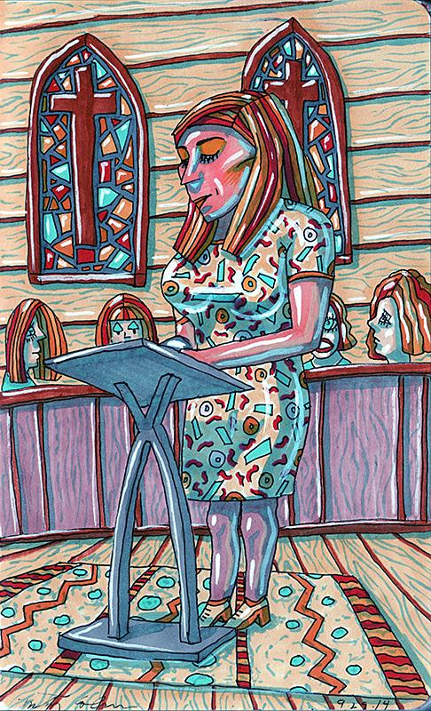 woman at lectern 2014