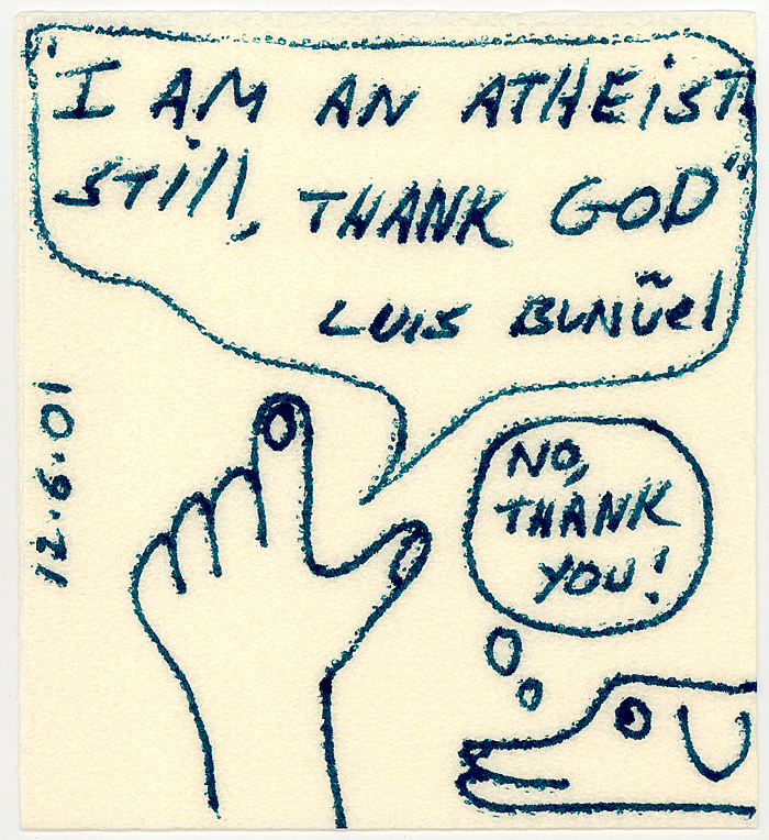 Atheist thank god