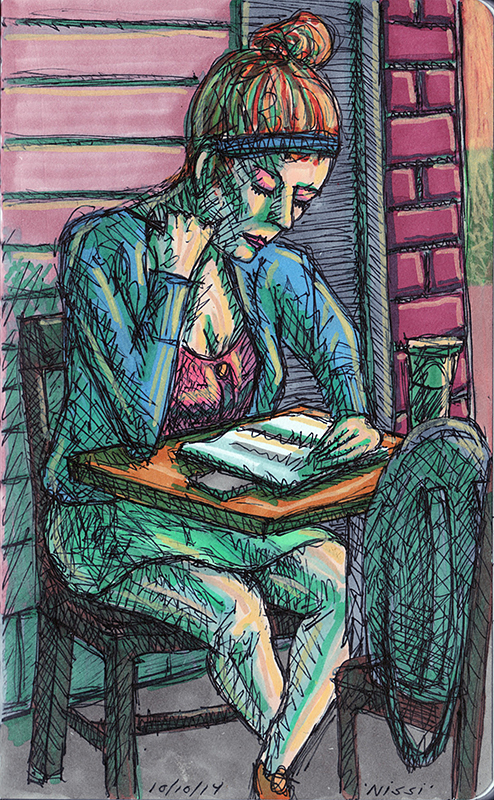 Nissi at Starbucks – Sketchbook
